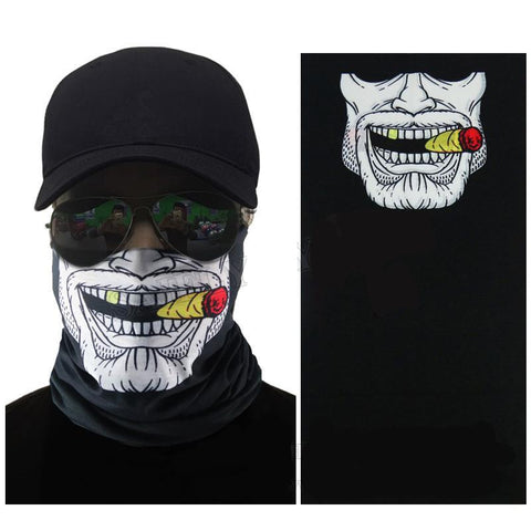High Quality UV Protection Skull Half Face Mask