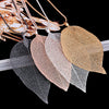 Sweater Coat Special Leaves Leaf Pendant Necklace Long Chain Jewelry
