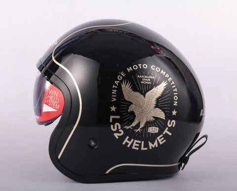 Spitfire ls2 OF599 Open Face Retro 3/4 Half Motorcycle Helmets