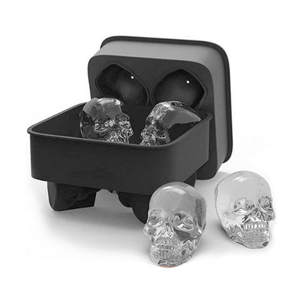 3D Skull Ice Mold Maker Silicone Tray