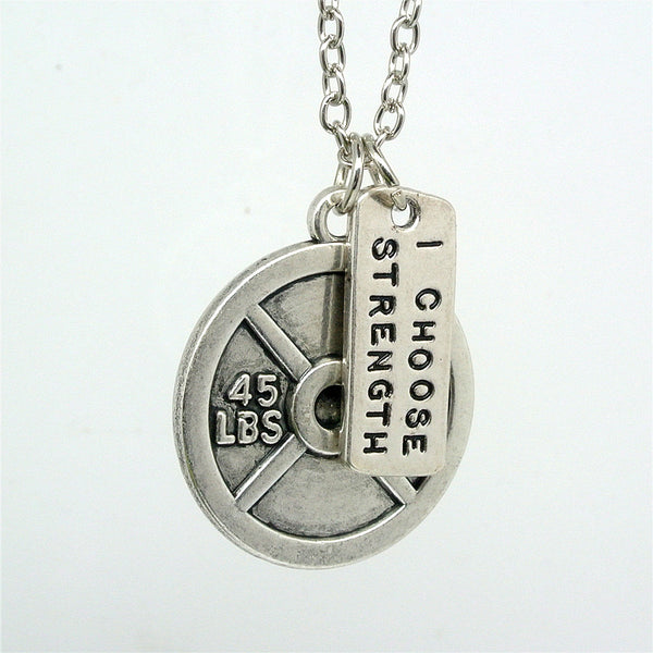 Gym Weights Pendant Necklace