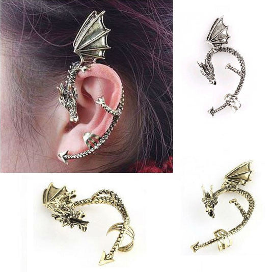 Vintage Dragon Ear Cuff Earrings
