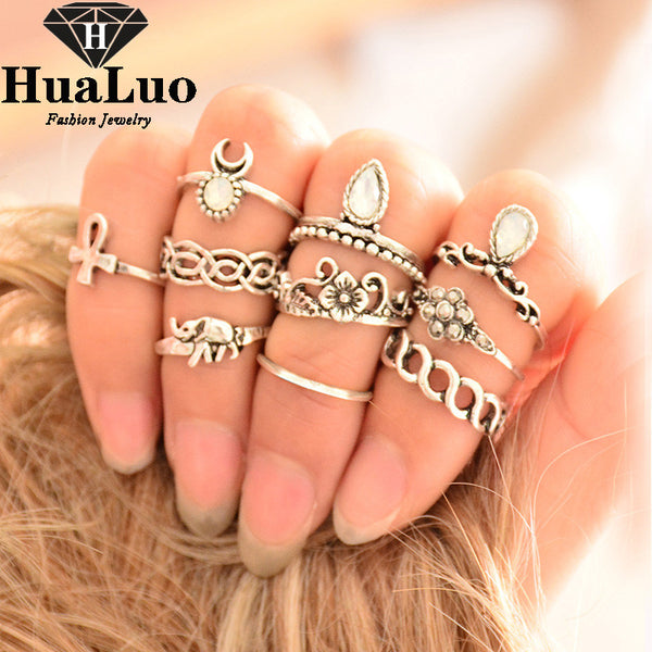 10pc/set of Tibetan Knuckle Rings