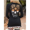 Skull Hollow Out Women Sweater jacket