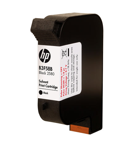 HP 2580 Black Solvent Ink Cartridge