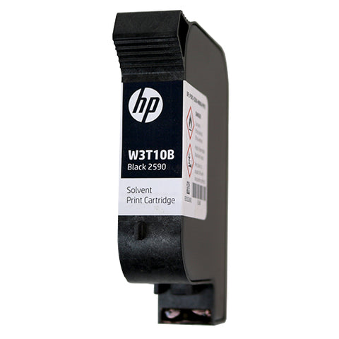 HP2590 Solvent Black ink cartridge W3T10B