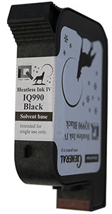 General IQ990 Black Solvent Ink Cartridge