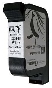 General IQ314S White Solvent Ink Cartridge