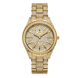1 Jbw Cristal 34 J6383a Gold Diamond Watch Front