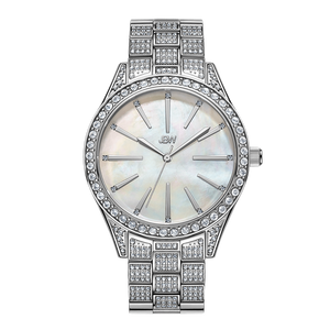 1 Jbw Cristal Gem J6382c Stainless Steel Diamond Watch Front