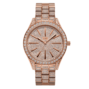 1 Jbw Cristal J6346b Rose Gold Diamond Watch Front