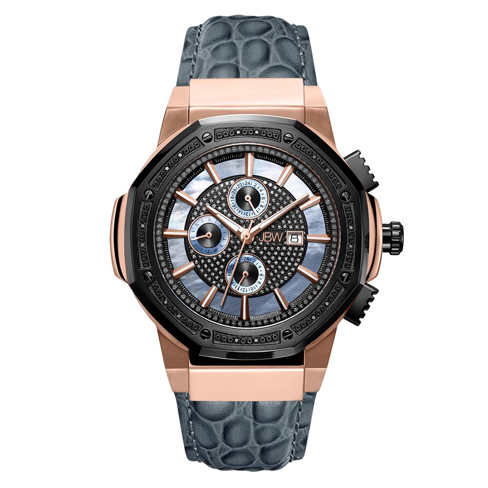 1-jbw-saxon-jb-6101l-10c-two-tone-rose-gold-black-ion-gray-leather-diamond-watch-front