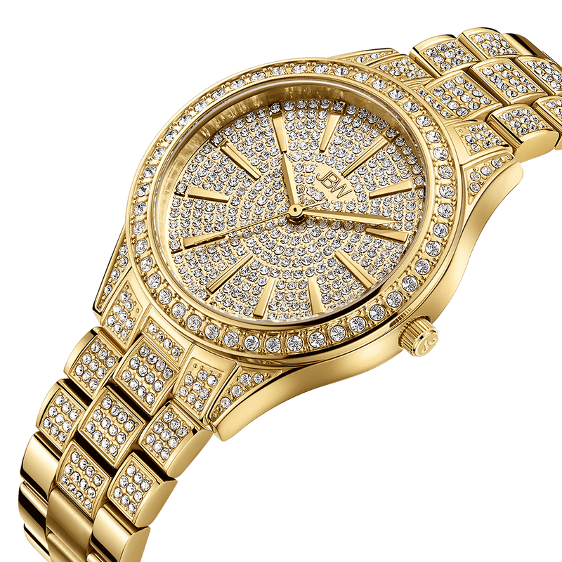 2 Jbw Cristal 34 J6383a Gold Diamond Watch Angle