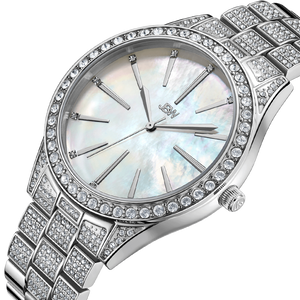 2 Jbw Cristal Gem J6382c Stainless Steel Diamond Watch Angle