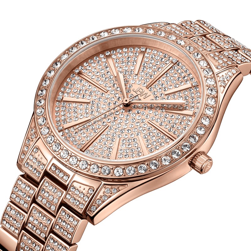 2 Jbw Cristal J6346b Rose Gold Diamond Watch Angle