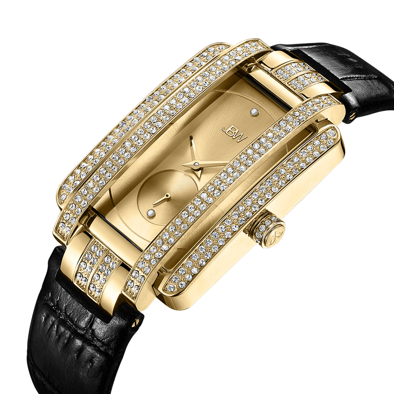 2 Jbw Mink J6358l D Gold Black Leather Diamond Watch Angle_774afa99 7f1f 415e A55f 7a463f580ca6