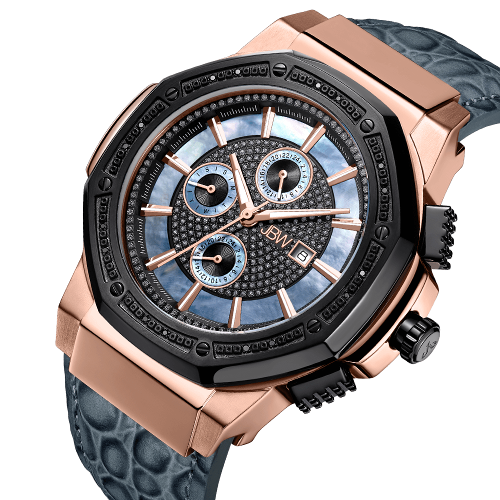 2-jbw-saxon-jb-6101l-10c-two-tone-rose-gold-black-ion-gray-leather-diamond-watch-angle
