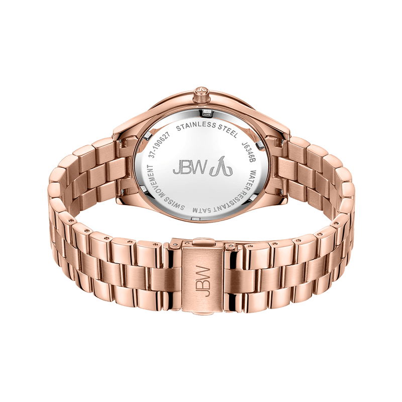 3 Jbw Cristal J6346b Rose Gold Diamond Watch Back