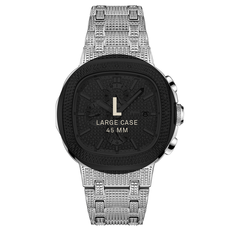 7 Jbw Heist J6380d Stainless Steel Diamond Watch Size Fit_c714cb48 81a5 4946 B483 864881b4f386