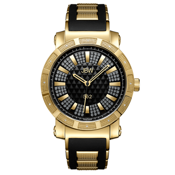 jbw-562-jb-6225-j-gold-black-silicone-diamond-watch-front