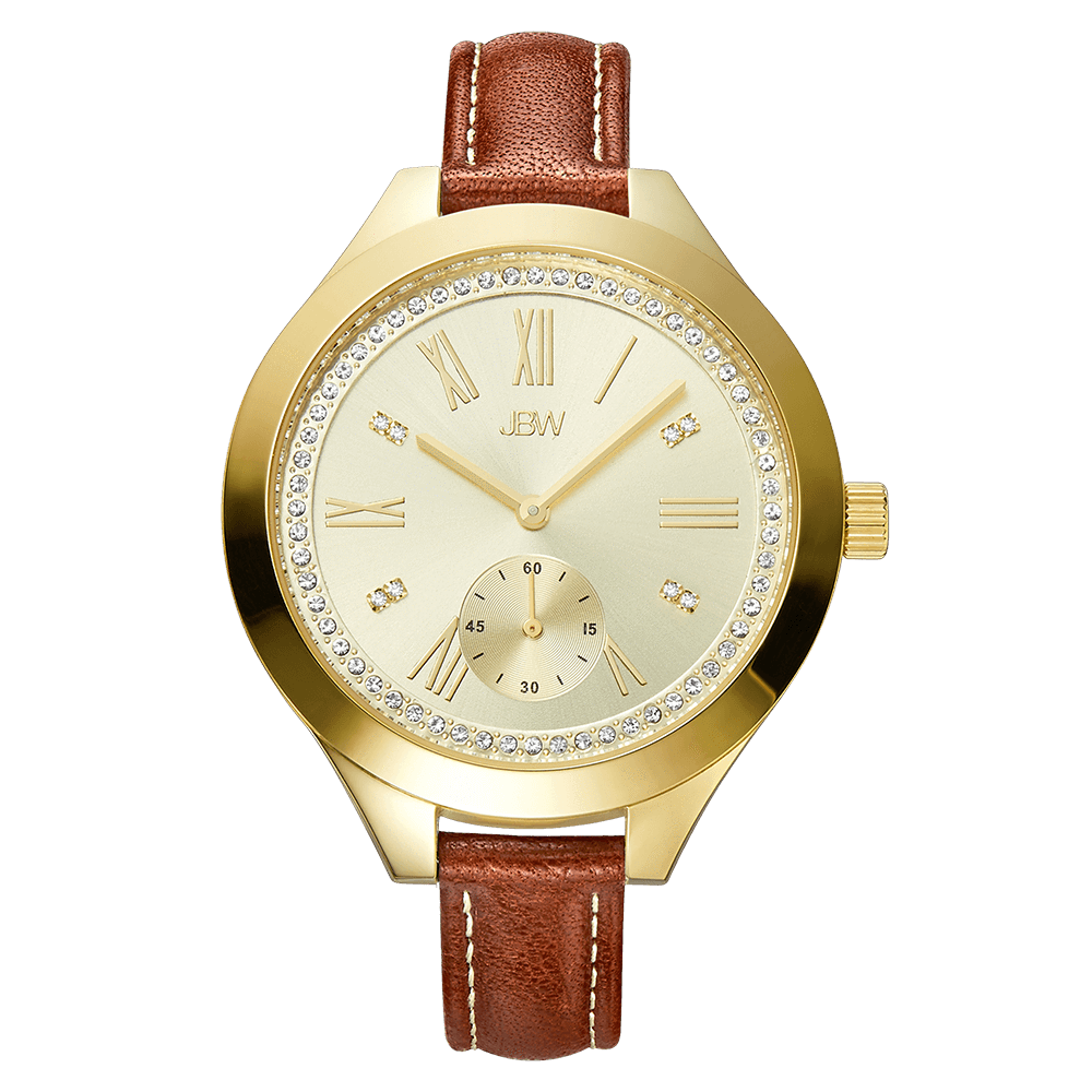 jbw-aria-j6309b-gold-brown-leather-diamond-watch-front