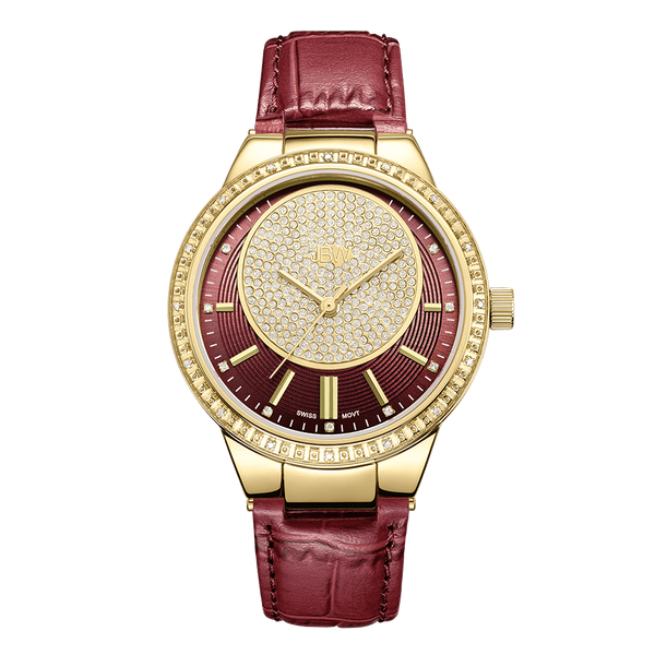 jbw-camille-j6345a-gold-maroon-leather-diamond-watch-front