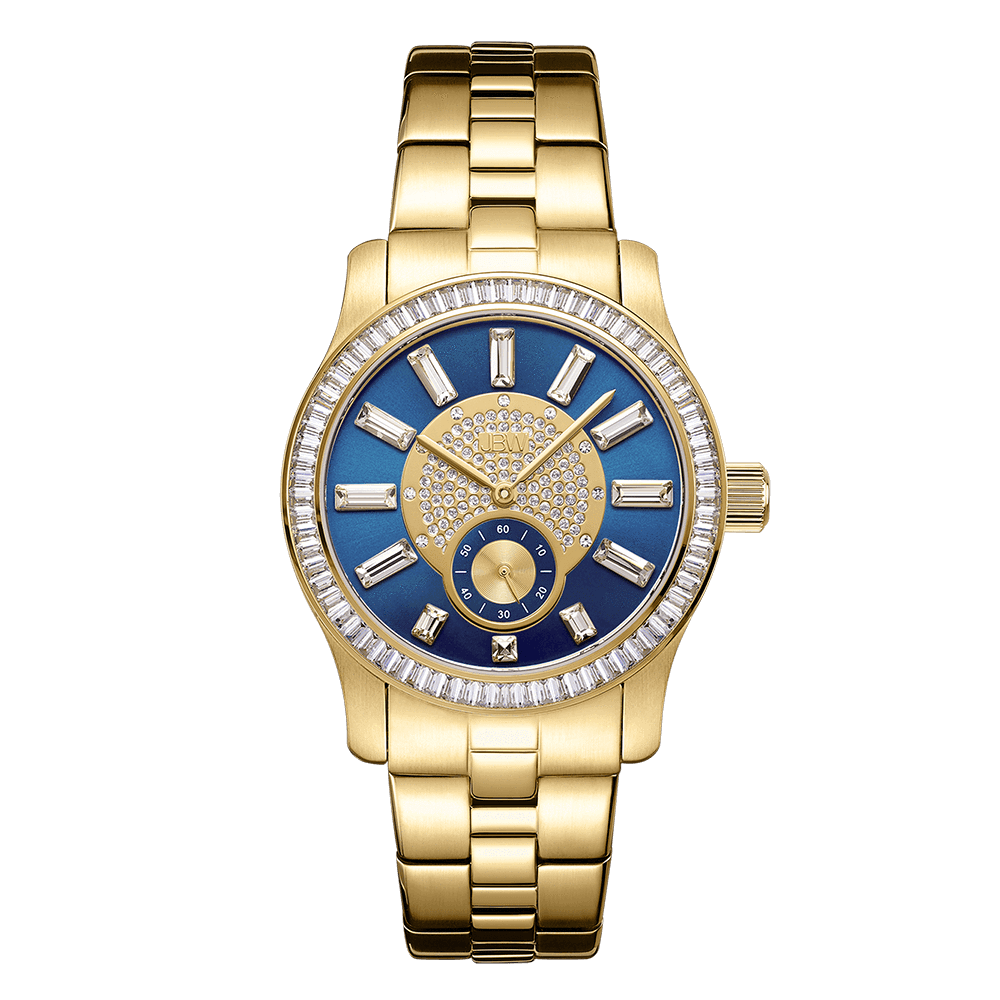 jbw-celine-j6349b-gold-blue-diamond-watch-front