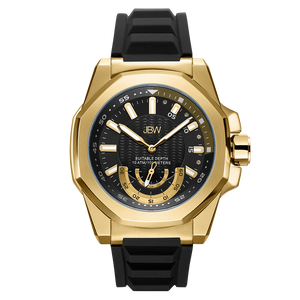 jbw-delmare-j6359d-gold-black-silicone-diamond-watch-front
