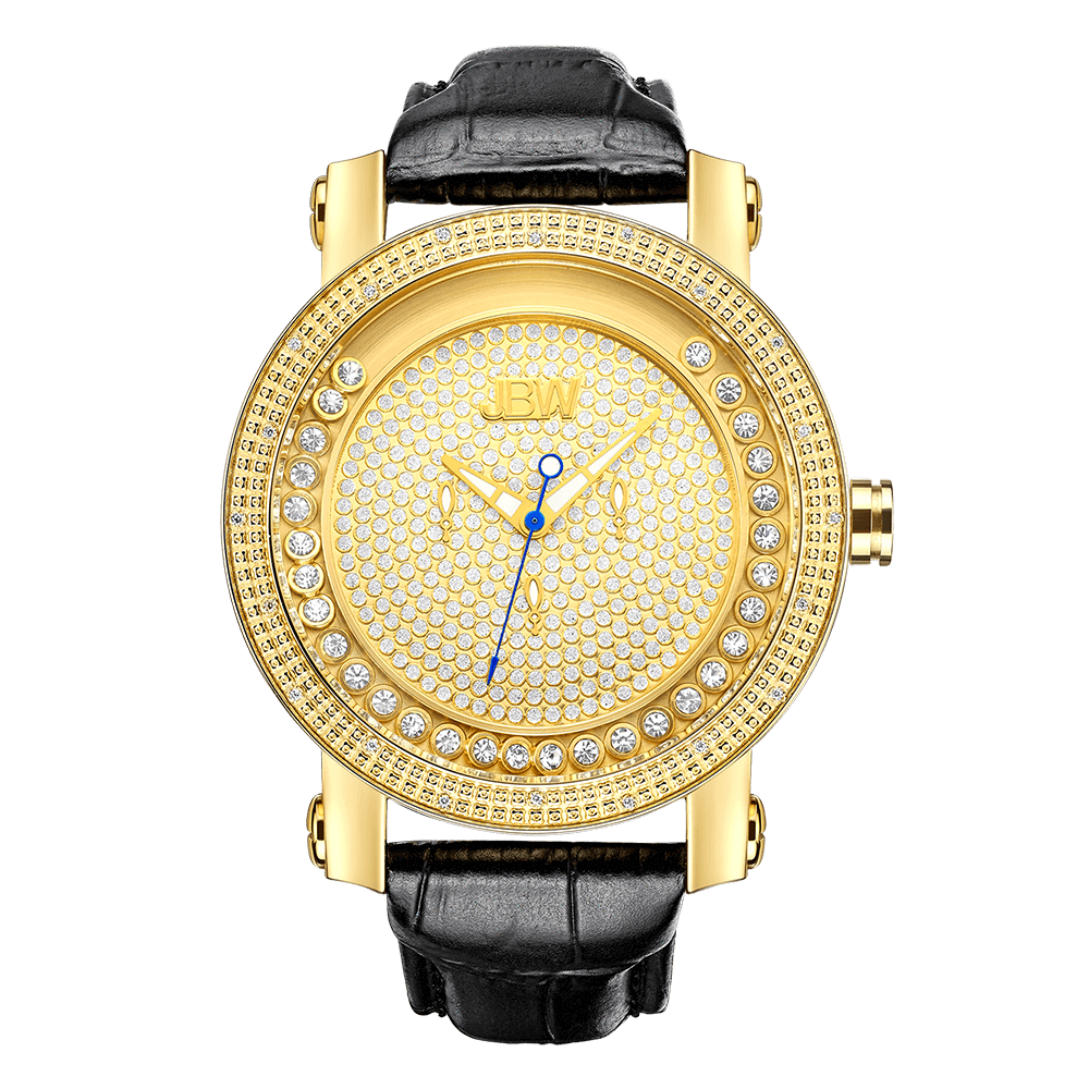 jbw-hendrix-jb-6211l-a-gold-black-leather-diamond-watch-front