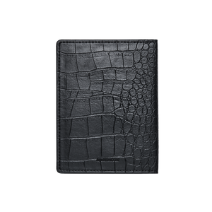 Jbw J1028 Croc Passport Black Leather Case Back