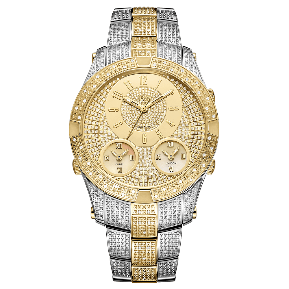 jbw-jet-setter-III-j6348c-two-tone-stainless-steel-gold-diamond-watch-front