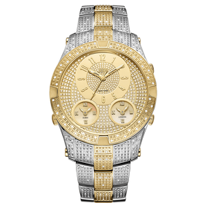 Jbw Jet Setter Iii J6348c Two Tone Stainless Steel Gold Diamond Watch Front