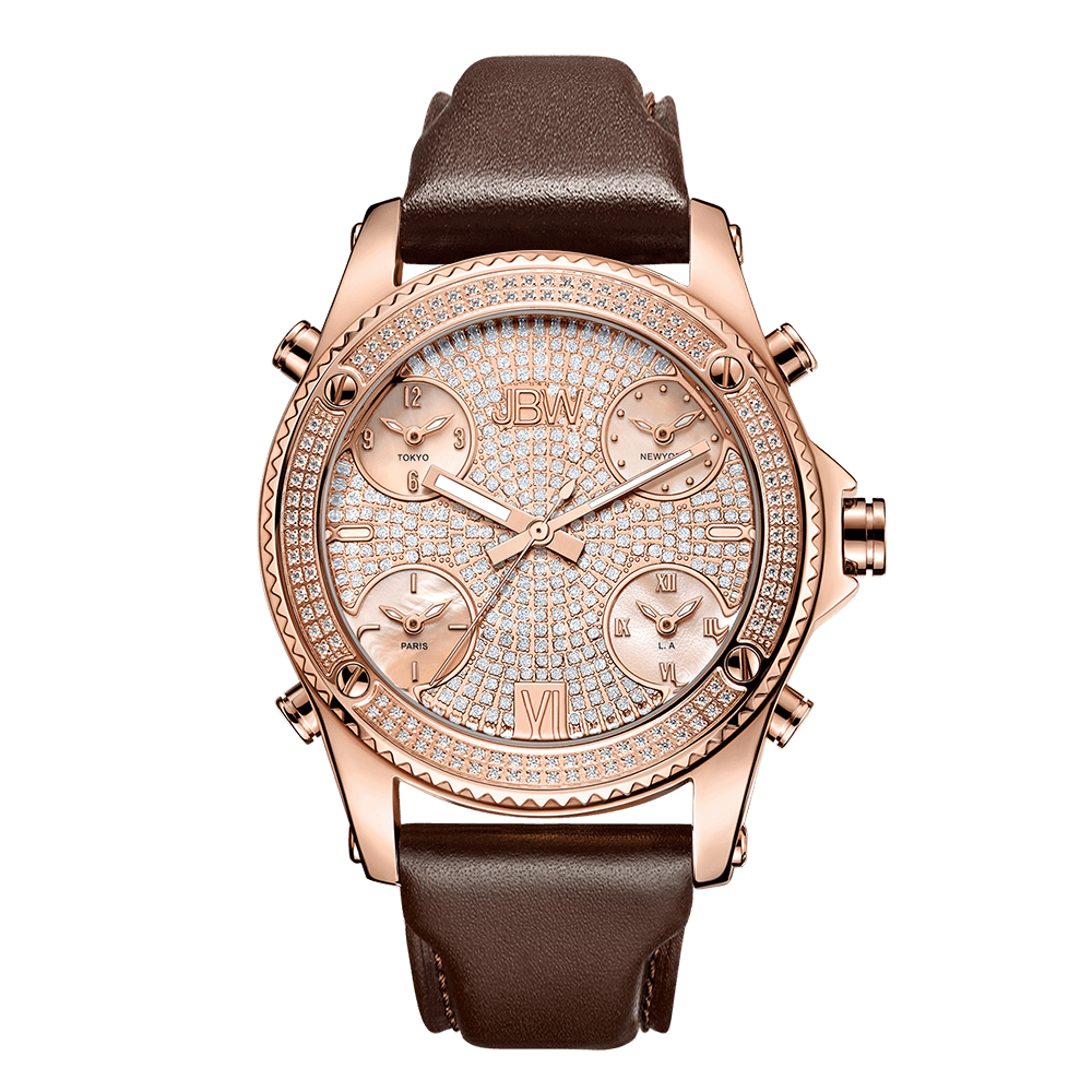 jbw-jetsetter-j6354c-rose-gold-brown-leather-diamond-watch-front