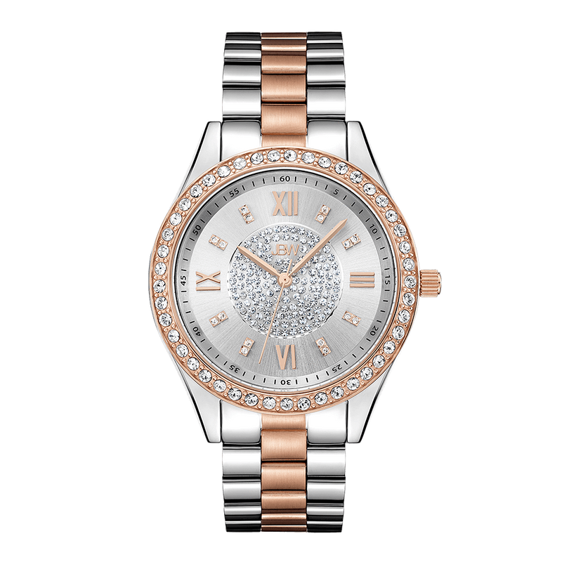 Jbw Mondrian J6303d Two Tone Stainless Steel Rosegold Diamond Watch Front