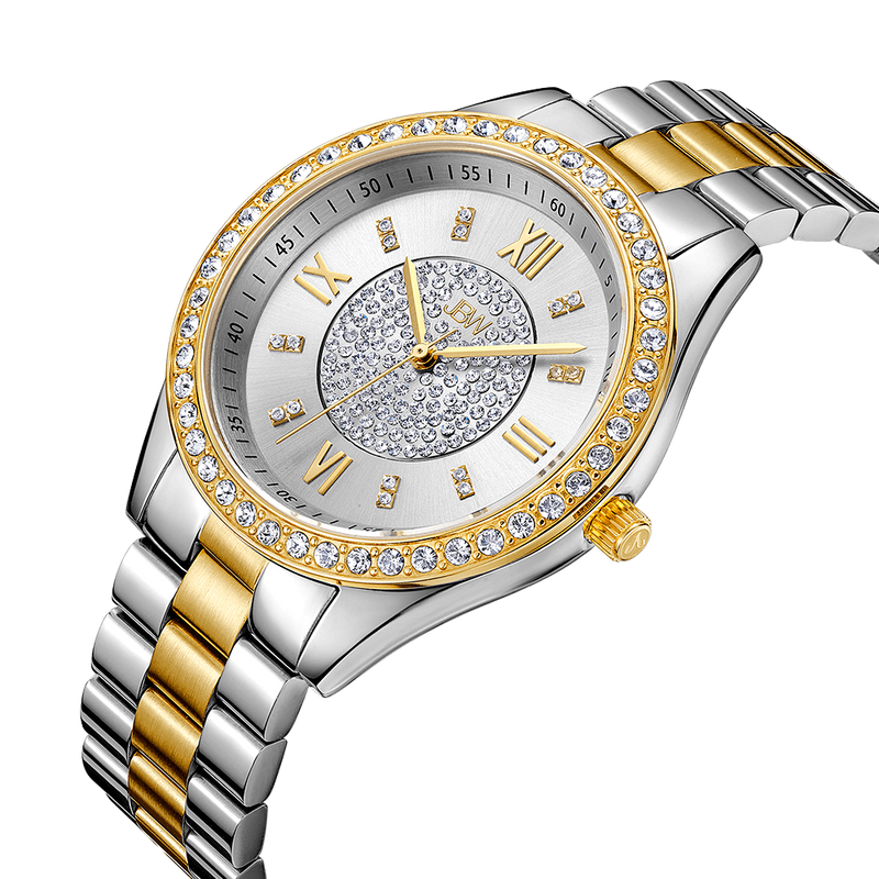 Jbw Mondrian J6303g Two Tone Stainless Steel Gold Diamond Watch Angle_fd950266 1631 4521 B371 E9c00a8bc4bc