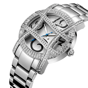 Jbw Olympia Jb 6214 B Stainless Steel Diamond Watch Angle