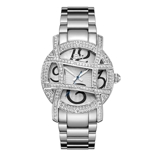 Jbw Olympia Jb 6214 B Stainless Steel Diamond Watch Front