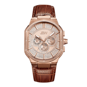 jbw-orion-j6342c-rosegold-brown-leather-diamond-watch-front