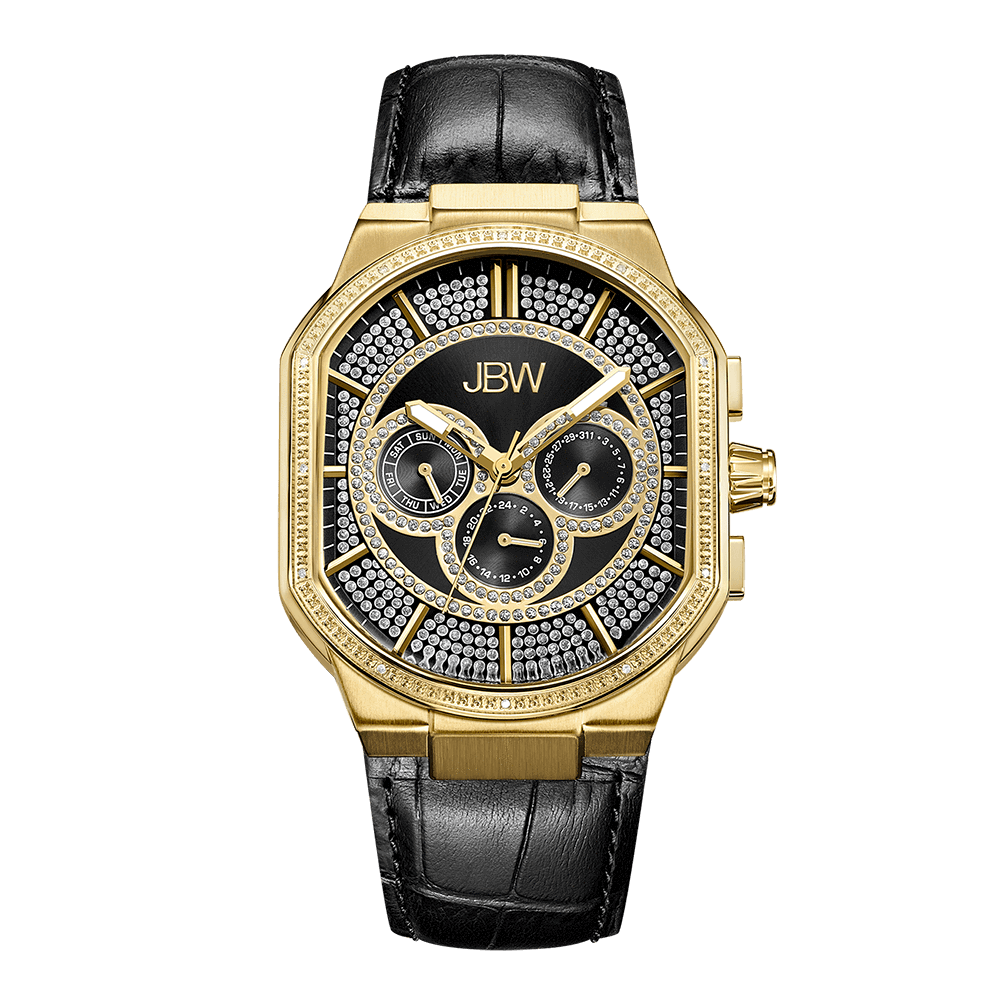 jbw-orion-j6342e-gold-black-leather-diamond-watch-front