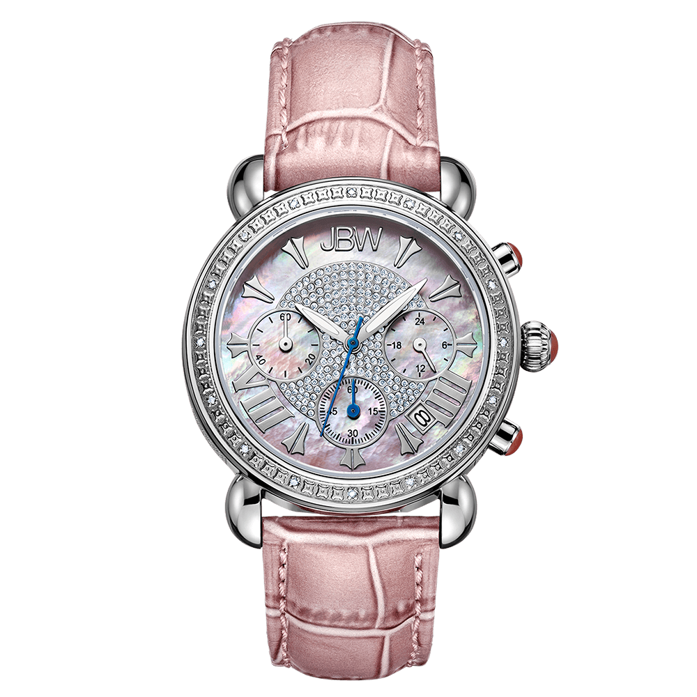 jbw-victory-jb-6210l-e-stainless-steel-pink-leather-diamond-watch-front