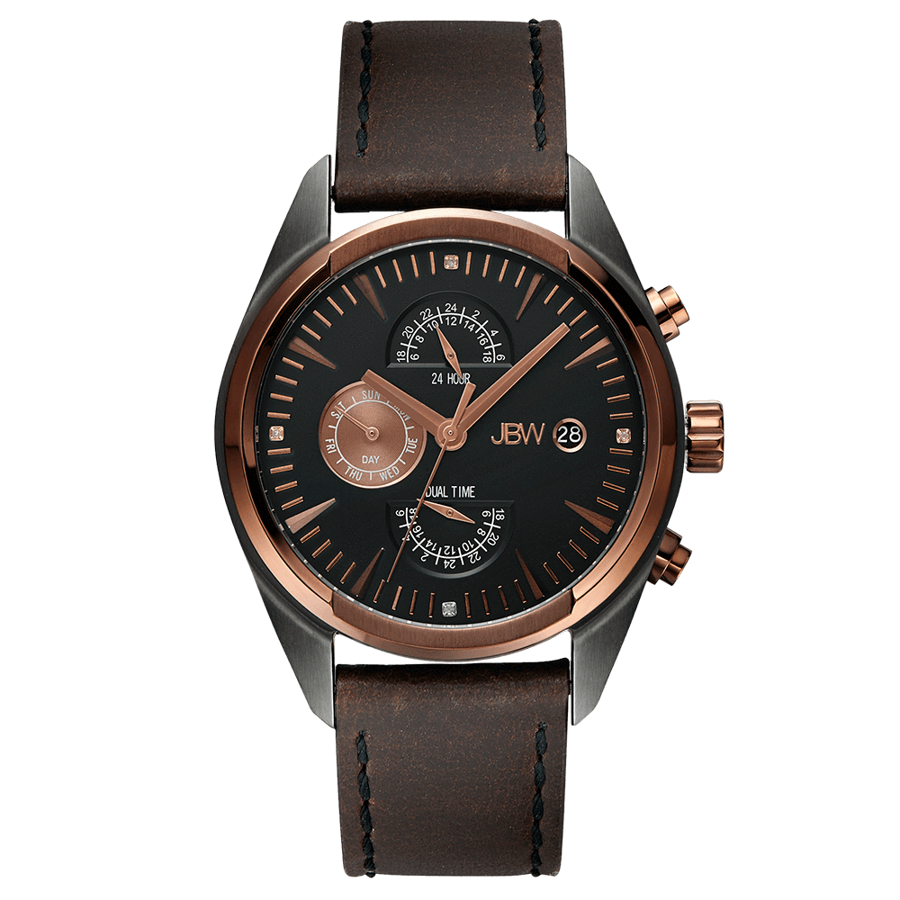 jbw-woodall-j6300a-two-tone-rosegold-gun-brown-leather-diamond-watch-front