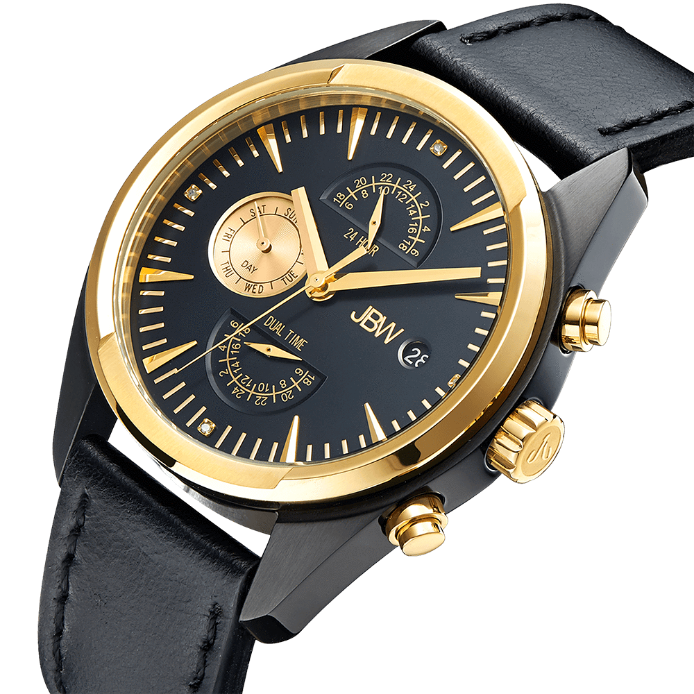 jbw-woodall-j6300c-two-tone-gold-black-ion-black-leather-diamond-watch-angle