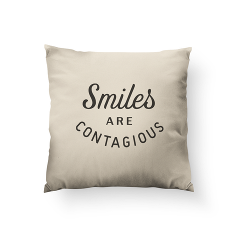 Smiles are Contagious Pillow