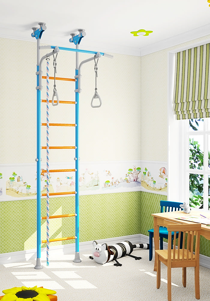 Wallbarz Family Indoor Playground - Sports Exercise Climbing Gym for Toddlers, Kids, and Adolescents