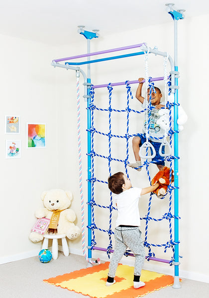Wallbarz little jungle indoor playground kids climbing for Playmobil kinderzimmer 4287