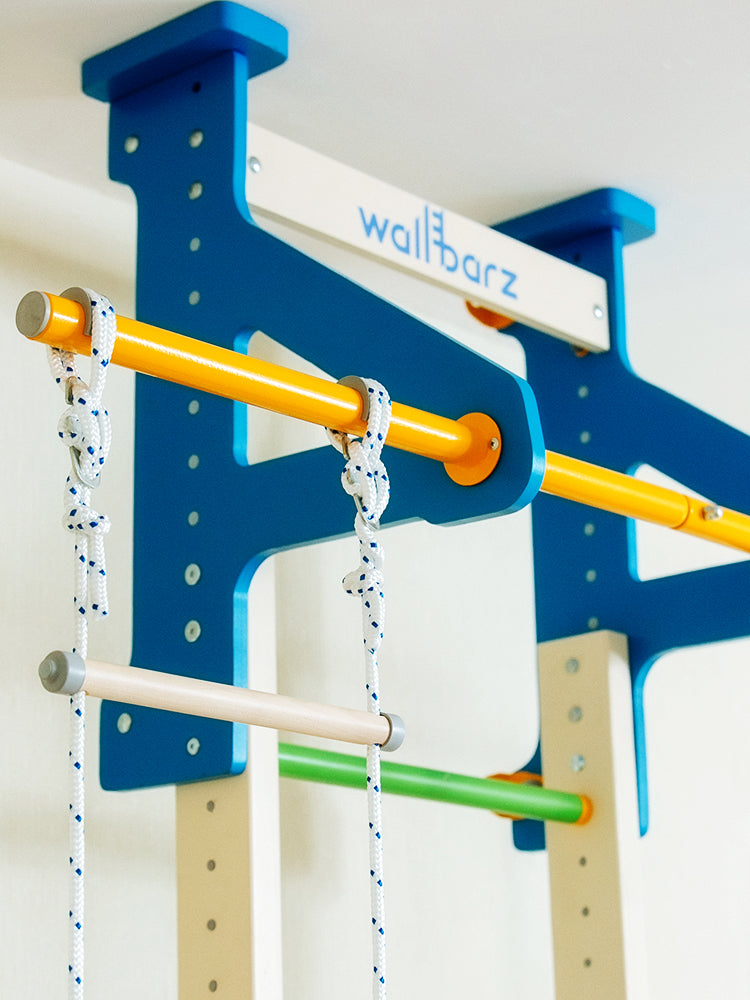 Wallbarz Woodsy Indoor Playground   Climbing Gym, Exercise Sports Set, Wood Play  Structure For Toddlers, Kids, And Adolescents