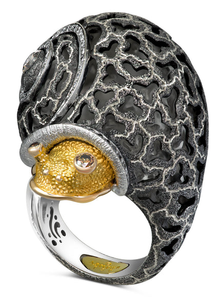 Alex Soldier Codi The Snail Ring With Swirl Pattern