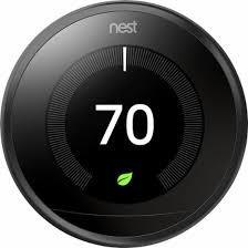 3rd Gen Nest Learning Thermostat - Black + Indoor Security Camera image 3834713440279