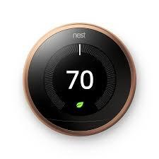 3rd Gen Nest Learning Thermostat - Copper + Indoor Security Camera image 3834738606103