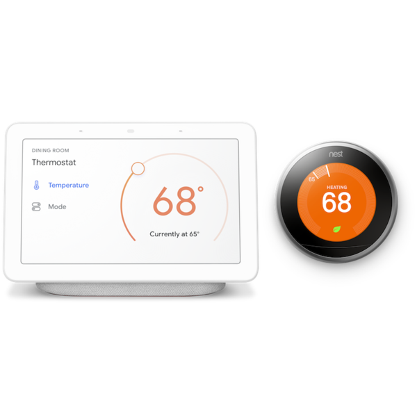 Nest Learning Thermostat with Google Home Hub